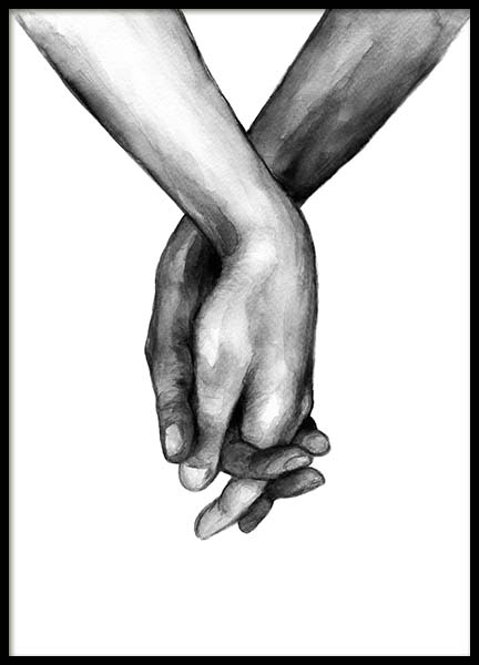 Watercolor Hands No1 Affiche dans le groupe Affiches / Illustrations chez Desenio AB (10201)