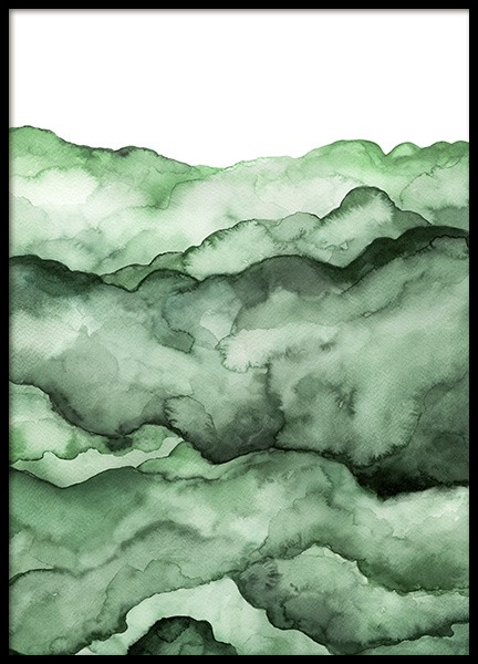 Abstract Green Field Affiche dans le groupe Affiches / Art chez Desenio AB (10741)