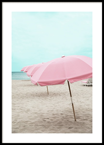 Pink Parasol Affiche dans le groupe Studio Collections / Studio Coast to Coast / Miami chez Desenio AB (10760)