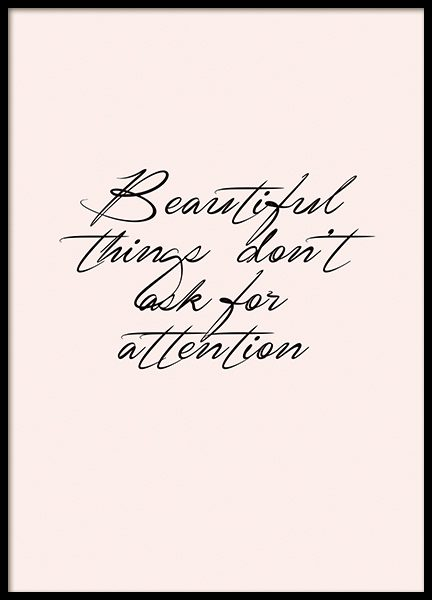 Beautiful Things Affiche dans le groupe Affiches / Affiche citation chez Desenio AB (10994)