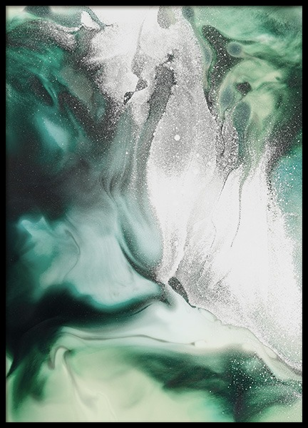 Abstract Green Painting Affiche dans le groupe Affiches / Art chez Desenio AB (11264)