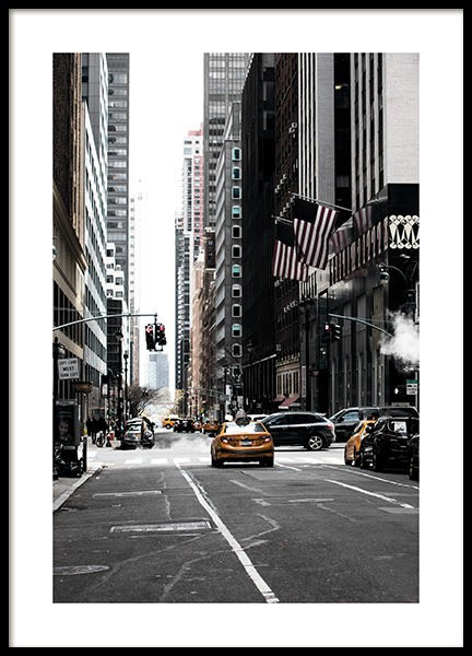 New York Street Affiche dans le groupe Studio Collections / Studio Cosmopolitan / New York chez Desenio AB (11326)