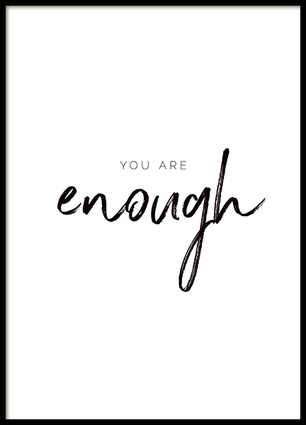 You are Enough Affiche dans le groupe Affiches / Affiche citation chez Desenio AB (11468)