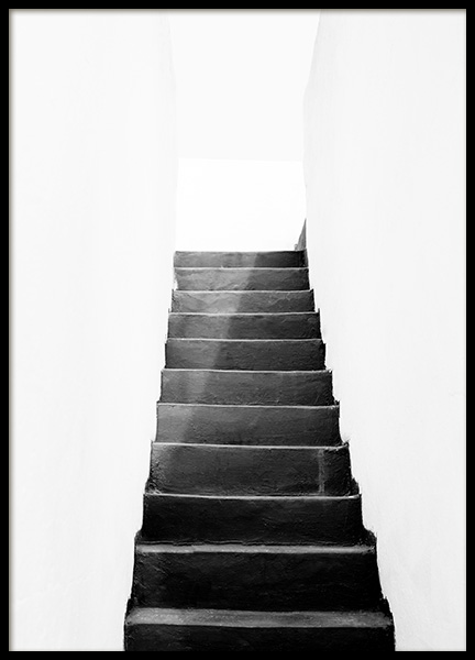 Black and White Stairs Affiche dans le groupe Affiches / Photographie chez Desenio AB (11484)