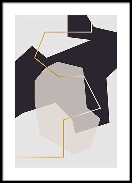 Abstract Fragments No2 Affiche dans le groupe Affiches / Art / Art abstrait chez Desenio AB (11997)