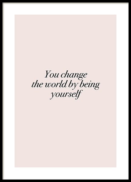 You Change the World Affiche dans le groupe Affiches / Formats / 30x40cm chez Desenio AB (12388)