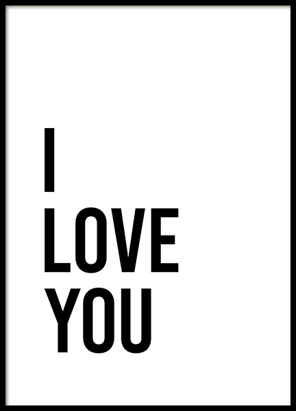 Dear Bed I Love You No2 Affiche dans le groupe Affiches / Affiche citation chez Desenio AB (13337)
