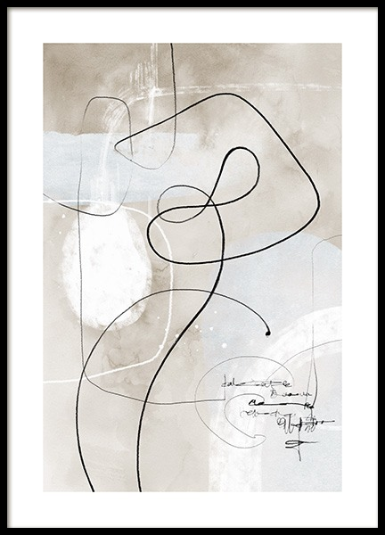 Soft Abstract Lines No1 Affiche dans le groupe Affiches / Art / Art abstrait chez Desenio AB (13675)