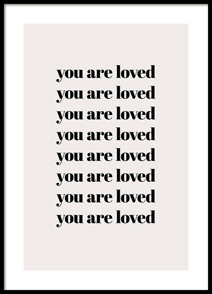 You Are Loved Repeat Affiche dans le groupe Affiches / Affiche citation chez Desenio AB (13825)