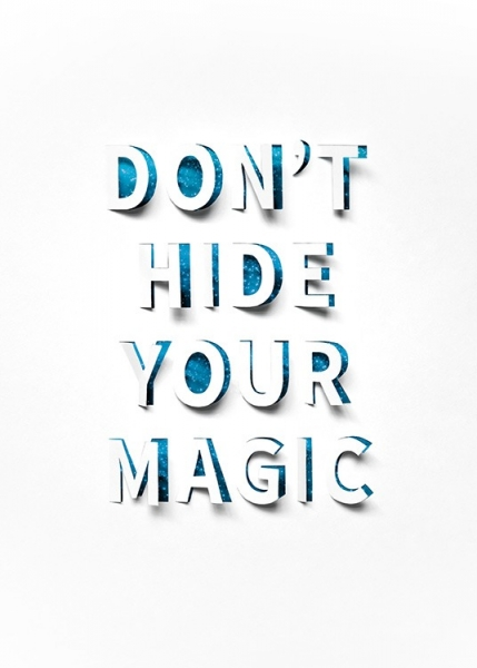 Don't Hide Your Magic Affiche dans le groupe Affiches / Affiche citation / Inspiration chez Desenio AB (13901)