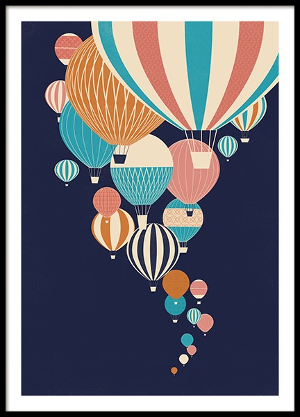 Balloons in the Sky Affiche dans le groupe Affiches / Posters pour enfants / Affiches pour enfants chez Desenio AB (13925)