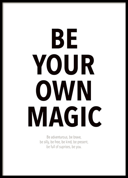 Your Own Magic Affiche dans le groupe Affiches / Affiche citation / Inspiration chez Desenio AB (14458)