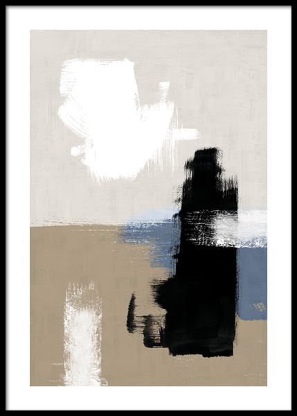 Abstract Brushes No2 Affiche dans le groupe Affiches / Art chez Desenio AB (14770)