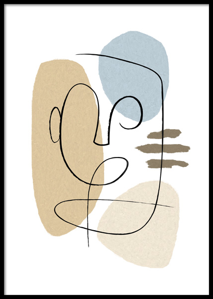 Abstract Forms No2 Affiche dans le groupe Affiches / Art chez Desenio AB (14812)