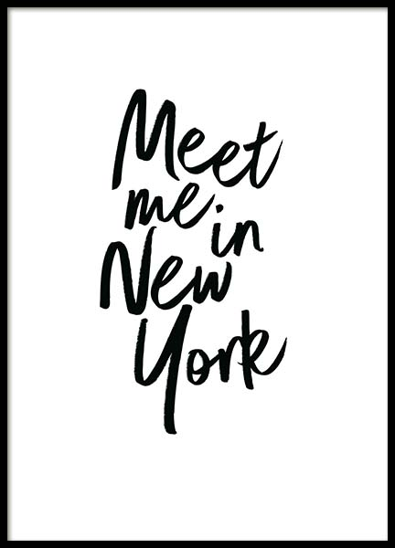 Meet Me In New York Affische dans le groupe Affiches / Affiche citation chez Desenio AB (2254)