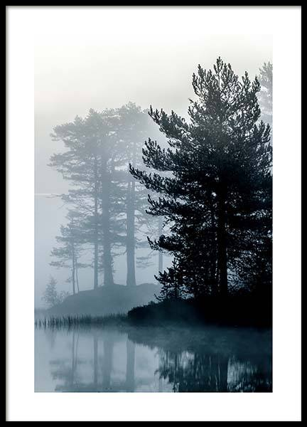 Forest By The Lake Affiche dans le groupe Affiches / Nature chez Desenio AB (2861)