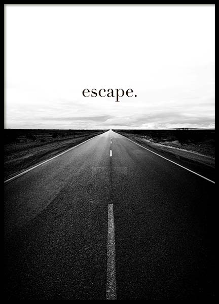 Road to Escape Affiche dans le groupe Affiches / Affiche citation chez Desenio AB (3877)