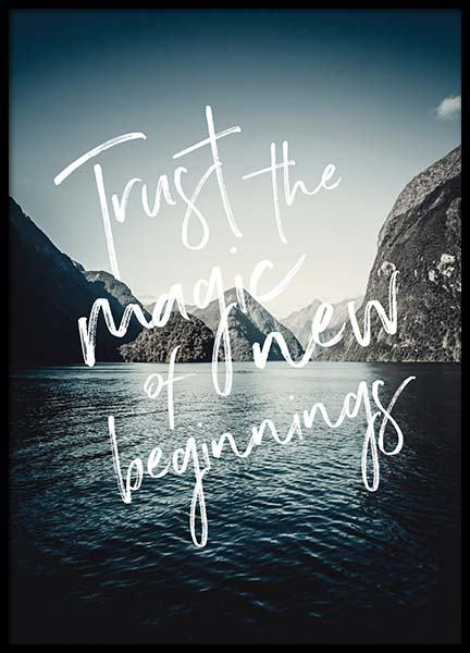 Trust The Magic Affiche dans le groupe Affiches / Affiche citation chez Desenio AB (3880)