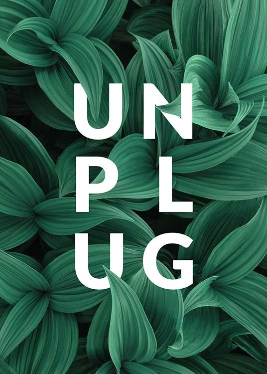 Unplug Affiche / Affiche citation chez Desenio AB (10138)