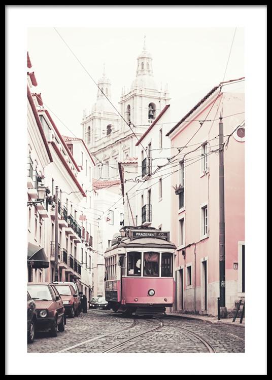 Pink Tram Affiche