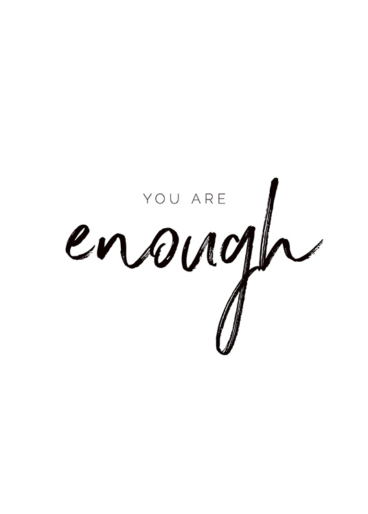You are Enough Affiche / Affiche citation chez Desenio AB (11468)