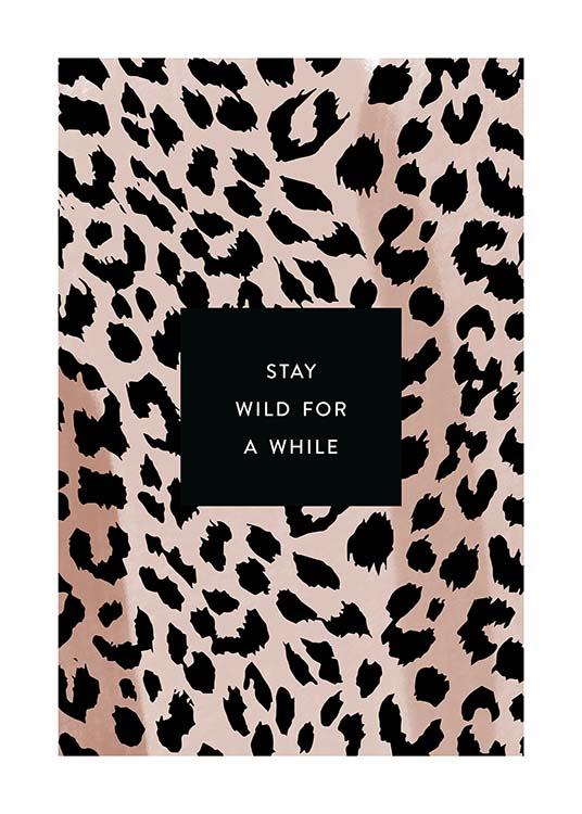 Stay Wild Affiche / Affiche citation chez Desenio AB (11621)