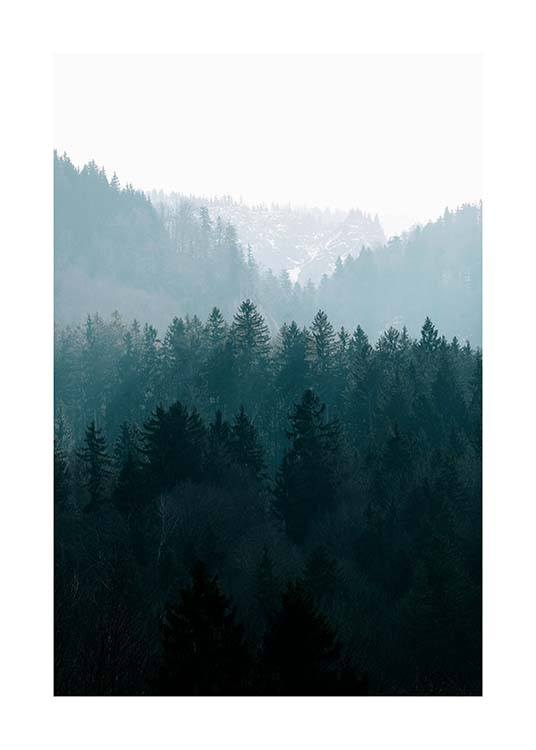 Deep Foggy Forest Affiche / Nature chez Desenio AB (11630)