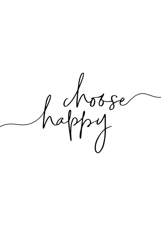 Choose Happy Affiche / Affiche citation chez Desenio AB (11652)