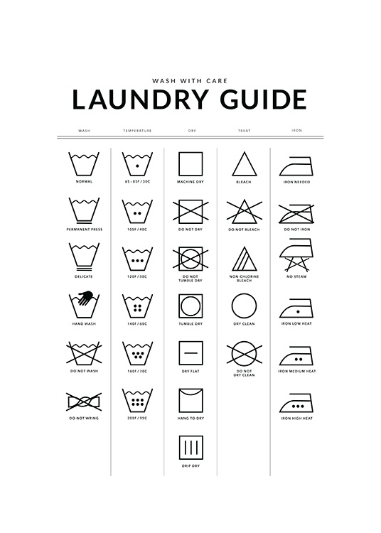 Laundry Guide Affiche / Affiche citation chez Desenio AB (12372)