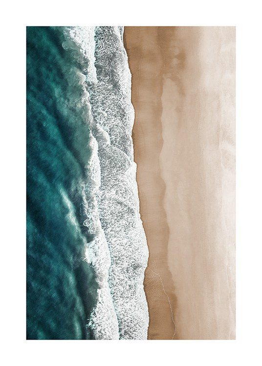 Rushing Sea Waves Affiche / Tropical chez Desenio AB (12459)