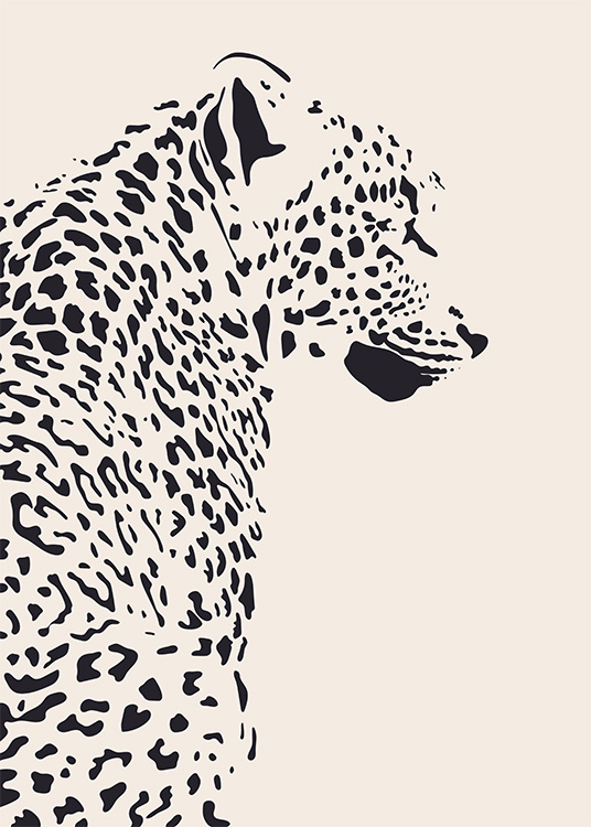 Leopard Illustration Affiche / Art chez Desenio AB (12572)