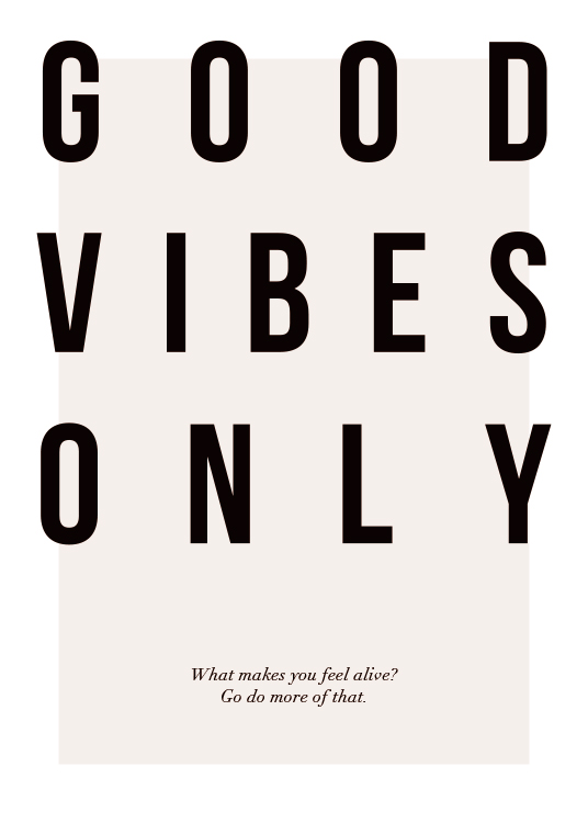 Good Vibes Only Affiche / Affiche citation chez Desenio AB (12873)