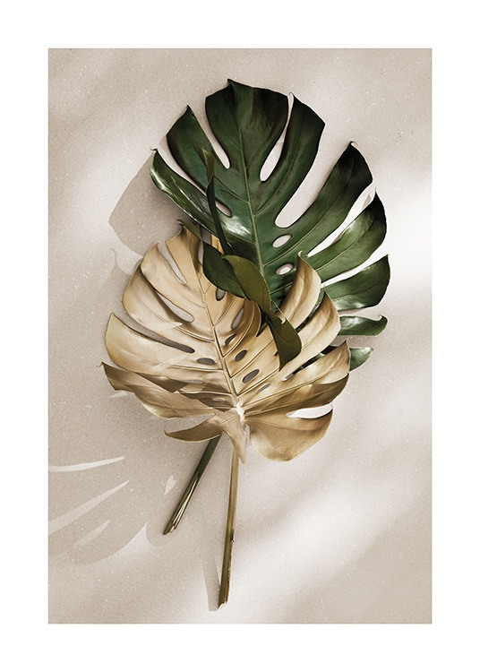 Gold Monstera No1 Affiche / Monsteras chez Desenio AB (13667)