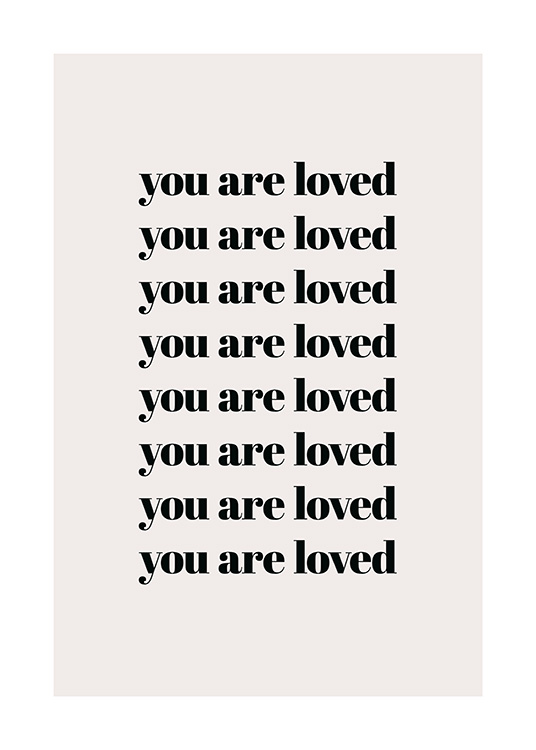 You Are Loved Repeat Affiche / Affiche citation chez Desenio AB (13825)