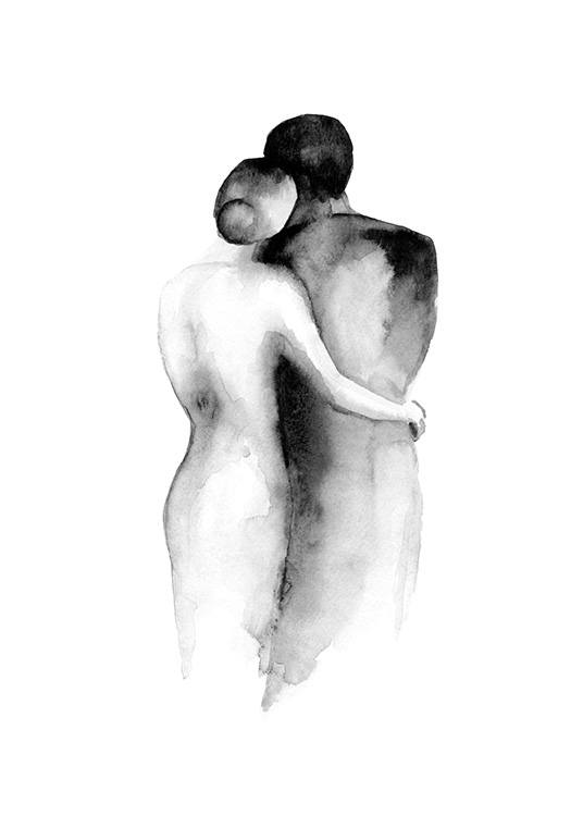 Watercolor Embrace Affiche / Aquarelle chez Desenio AB (13852)