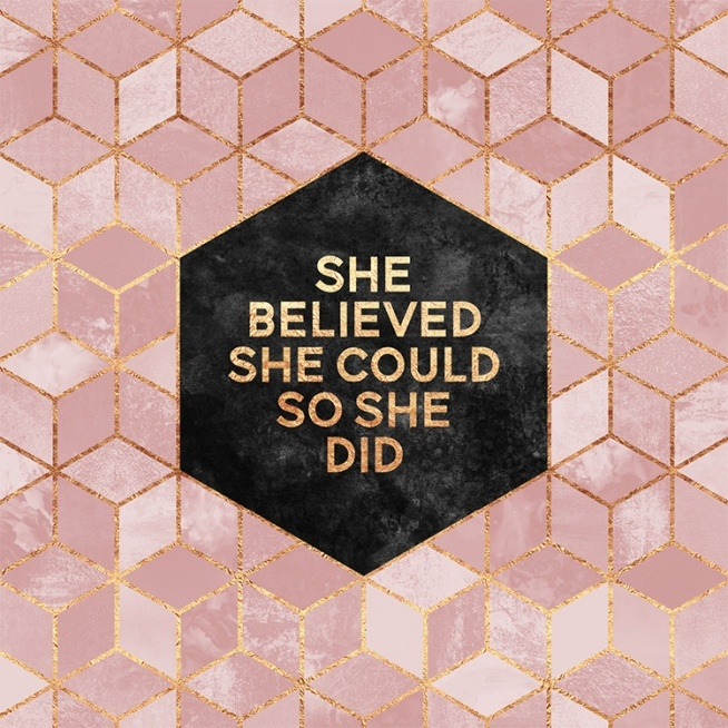 She Believed She Could So She Did Affiche / Graphisme chez Desenio AB (2378)