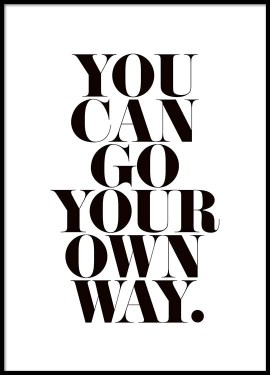 Go Your Own Way Affiche