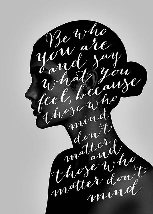Be Who You Are Affiche / Affiche citation chez Desenio AB (3670)
