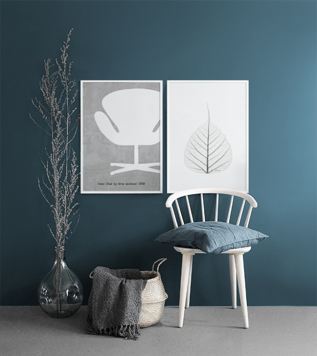 affiche moderne avec fauteuil de cr ateur swan chair affiche. Black Bedroom Furniture Sets. Home Design Ideas