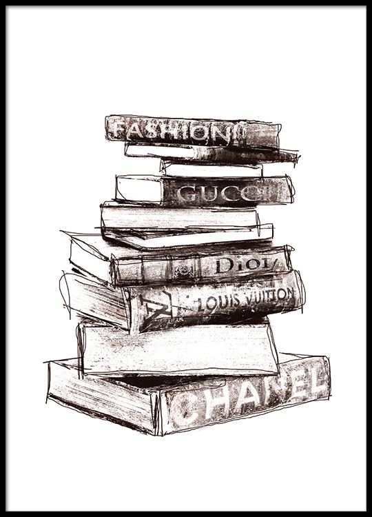 Fashion Books Affiches
