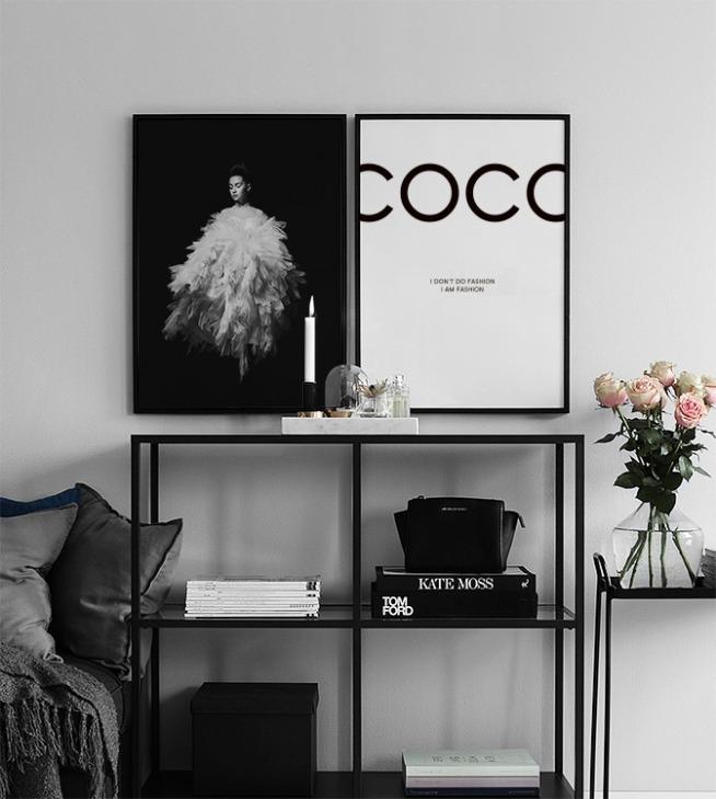 Affiche Chanel Poster Avec Citation De Coco Chanel Affiches