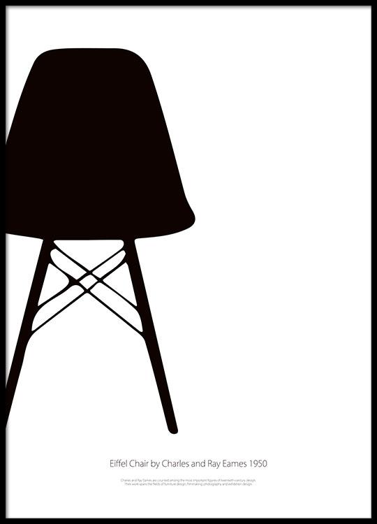 Eiffel Chair Poster Dans Le Groupe Affiches Graphisme Chez Desenio AB 7832