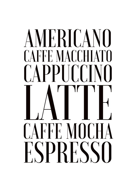 Coffee, Affiche / Affiche citation chez Desenio AB (7897)