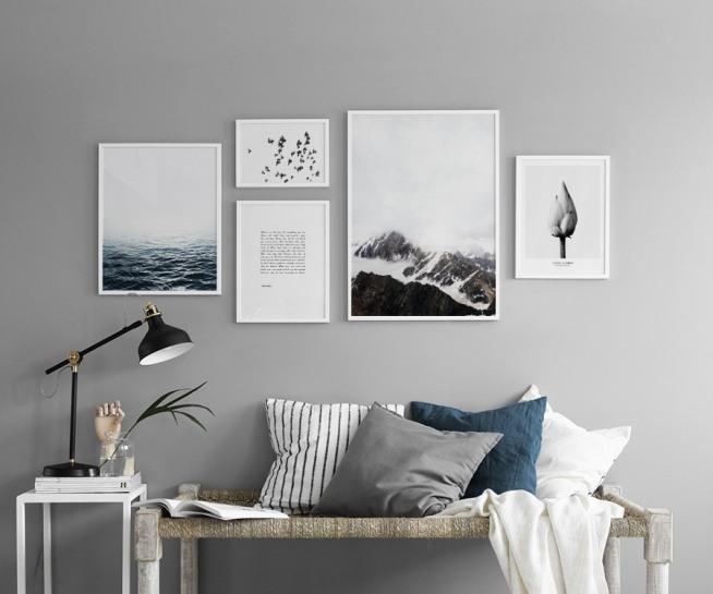 affiche avec photographie d un paysage maritime. Black Bedroom Furniture Sets. Home Design Ideas