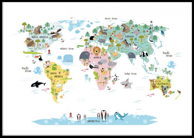 Affiches Pour Enfants Avec Atlas Mondial Desenio Fr