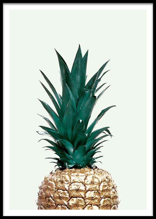 Green Pineapple Affiche Dans Le Groupe Affiches Cuisine Chez Desenio AB 8210