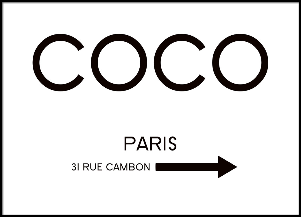 Rue Cambon Affiche