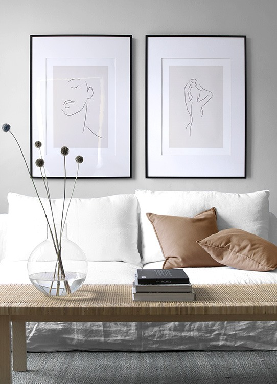 Beige line art perfect pair