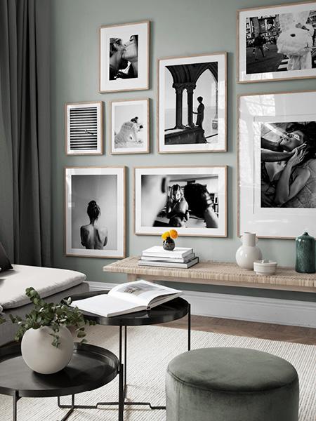 Tableau noir et blanc. Affiches et tableaux chez Desenio.